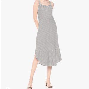 Ella Moss Mina striped midi dress NWT